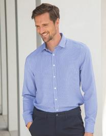 Mens Gingham Cofrex/Pufy Wicking Longsleeve Shirt