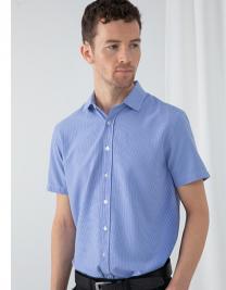 Mens Gingham Cofrex/Pufy Wicking S/S Shirt